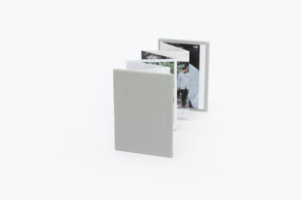 Full Material Cover Accordion Mini Book detail
