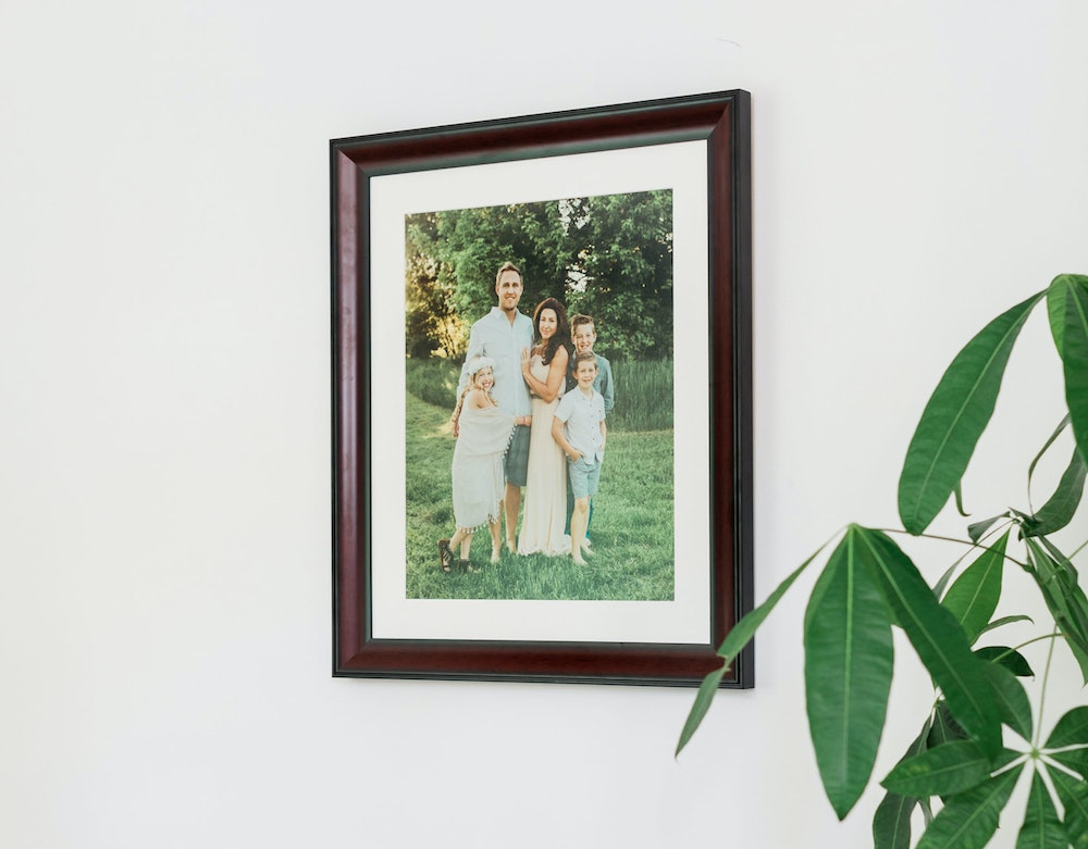 Lexington Framed Print hanging above couch