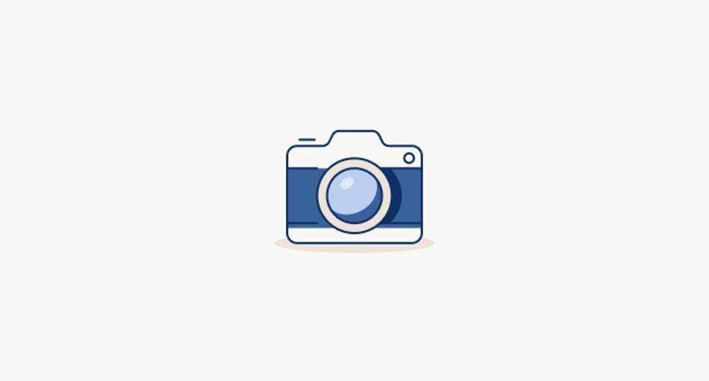 Camera illustration on tan