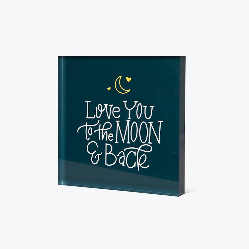 Whcc love you to the moon acrylic block