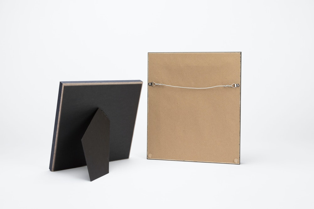 Framed Tabletop Prints backing detail