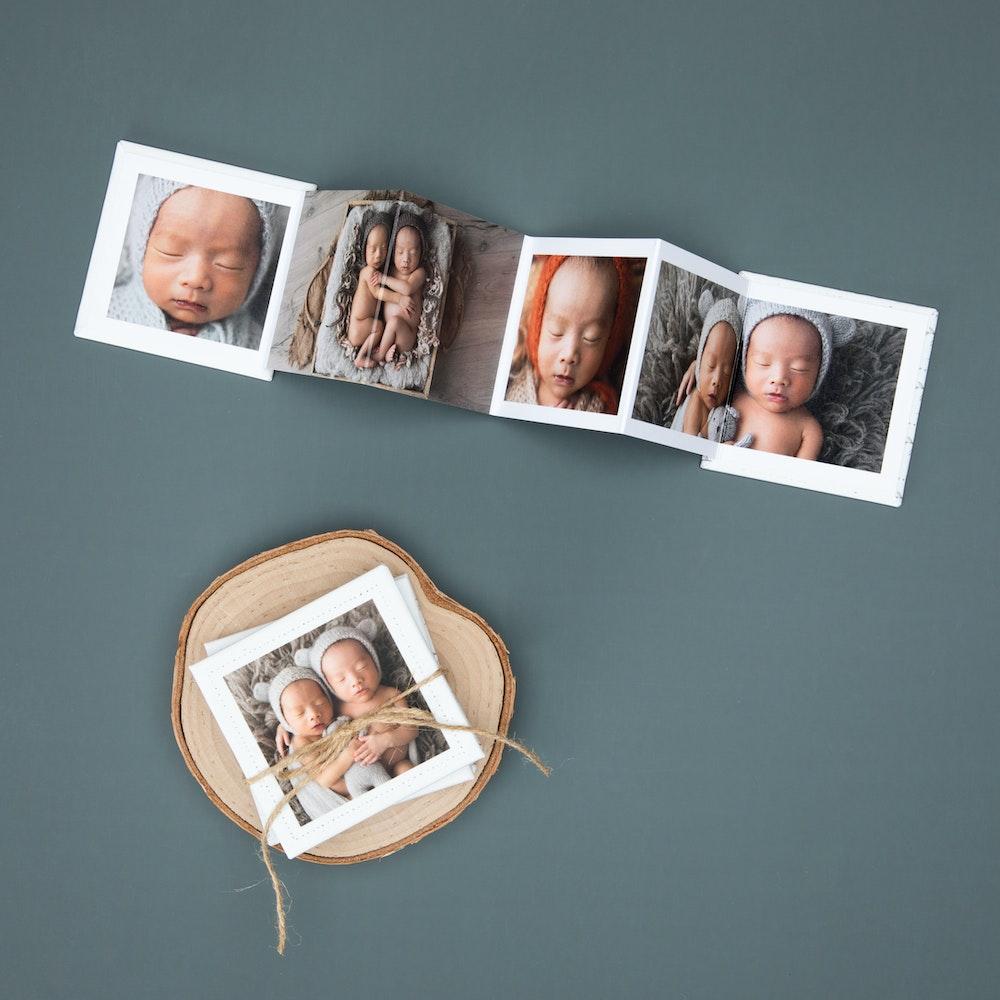 Whcc accordion mini book baby two