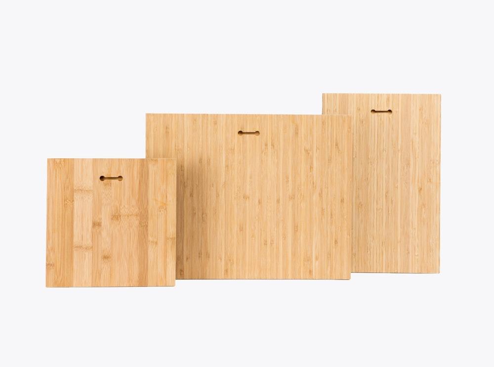 Multiple Bamboo Panel Sizes Hanging Keyholes