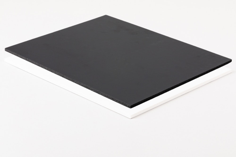 Blank Black and White Foamboard surface