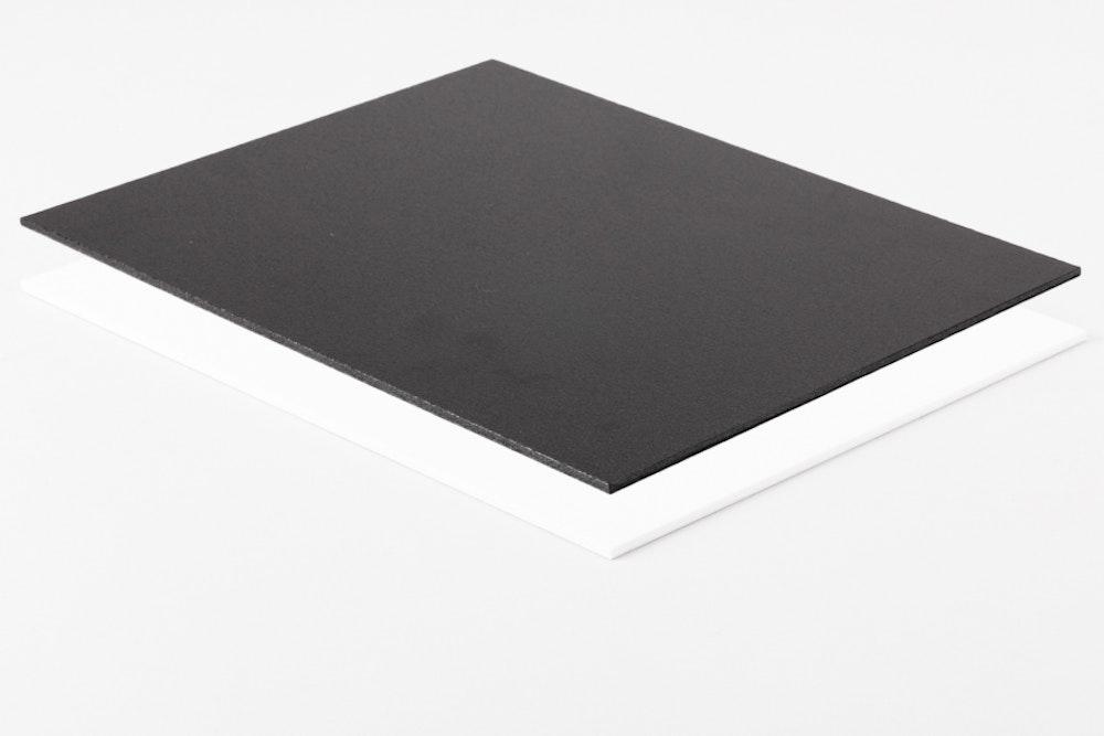 Blank Black and White Styrene mounting surfaces