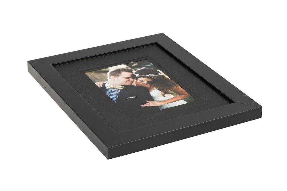 Double black mat in black gallery Framed Print