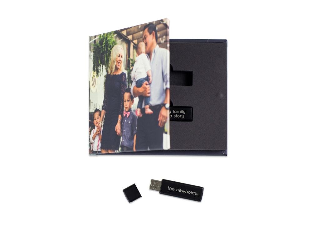 Double drive custom photo cover USB Case