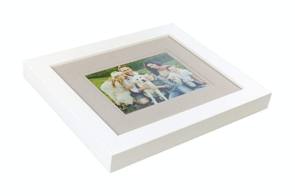 Double gray mat in white gallery Framed Print