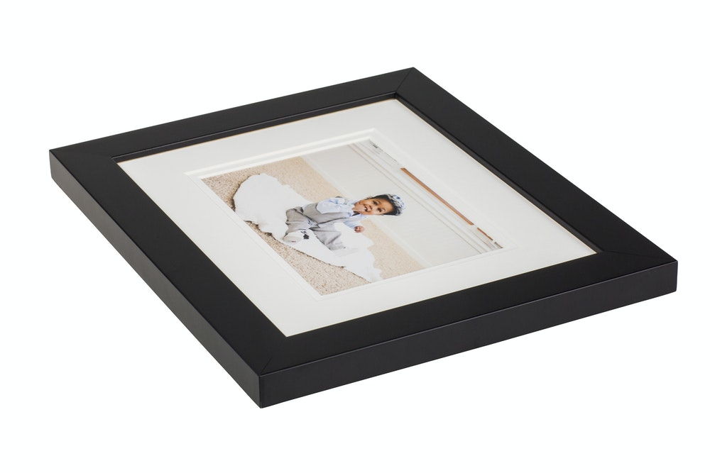 Double white mat in black gallery Framed Print