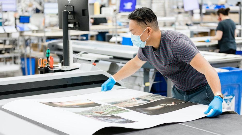 Whcc fine art prints production cutting table prep