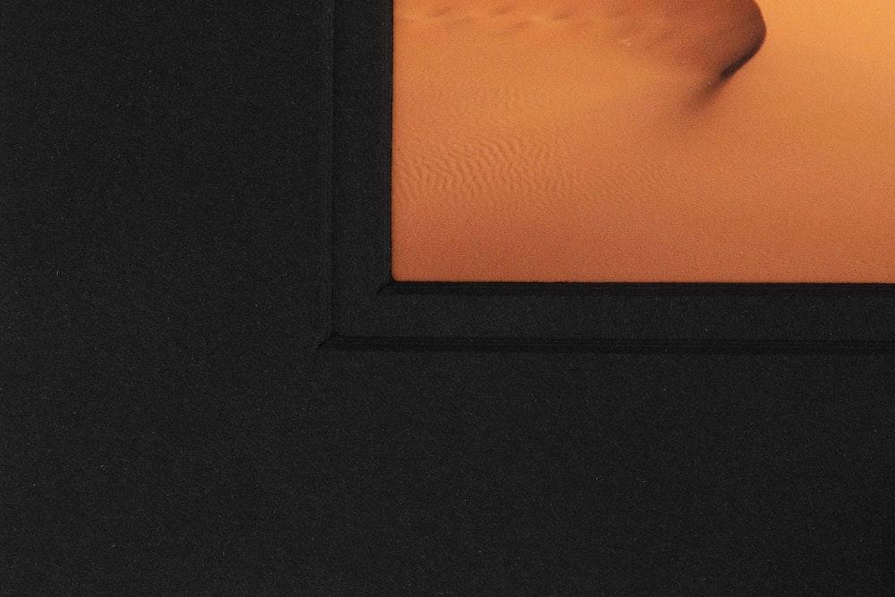 Framed Print double black mat detail