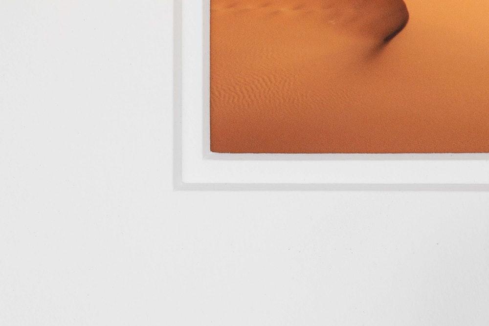 Framed Print double white mat detail