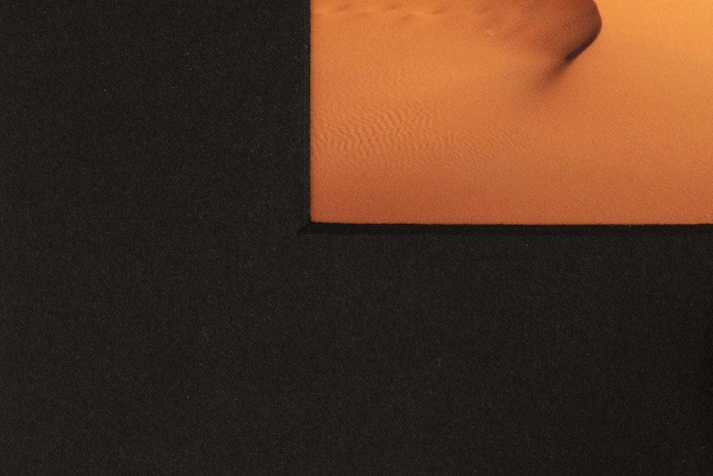 Framed Print single black mat detail