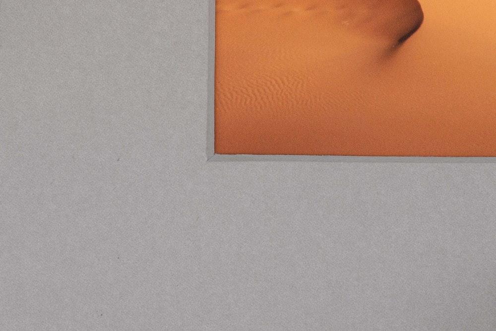 Framed Print single gray mat detail