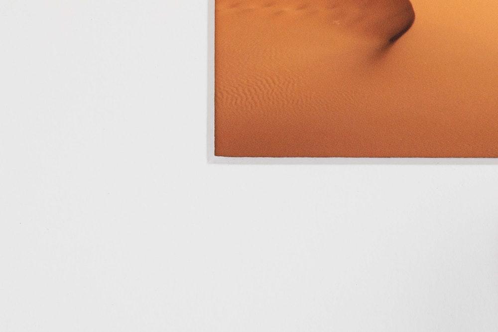 Framed Print single white mat detail