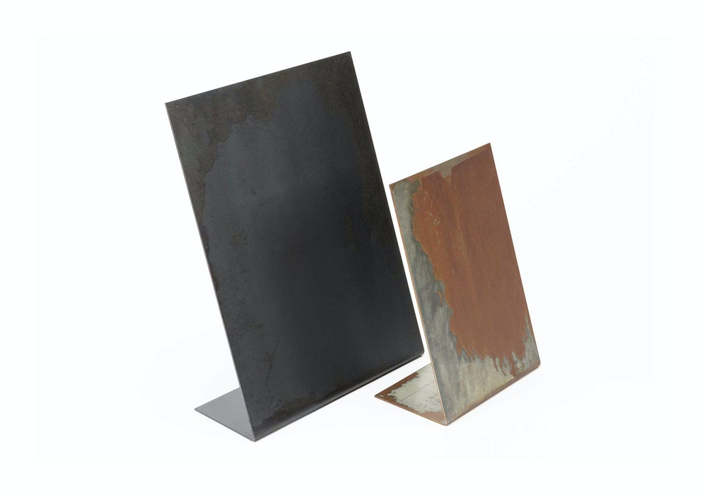 Graphite and Acid Washed Metal Display Stand