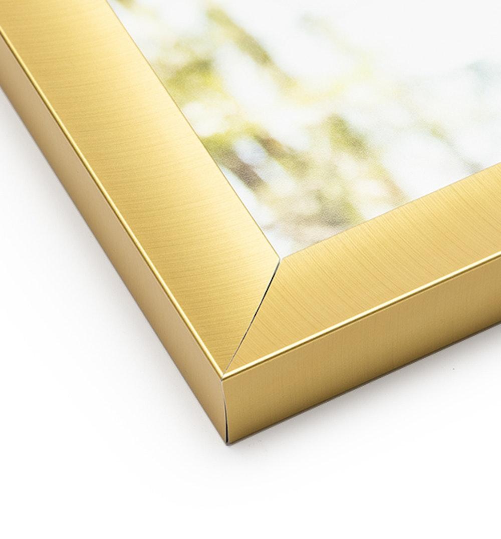 Gold Metal Frame moulding corner detail