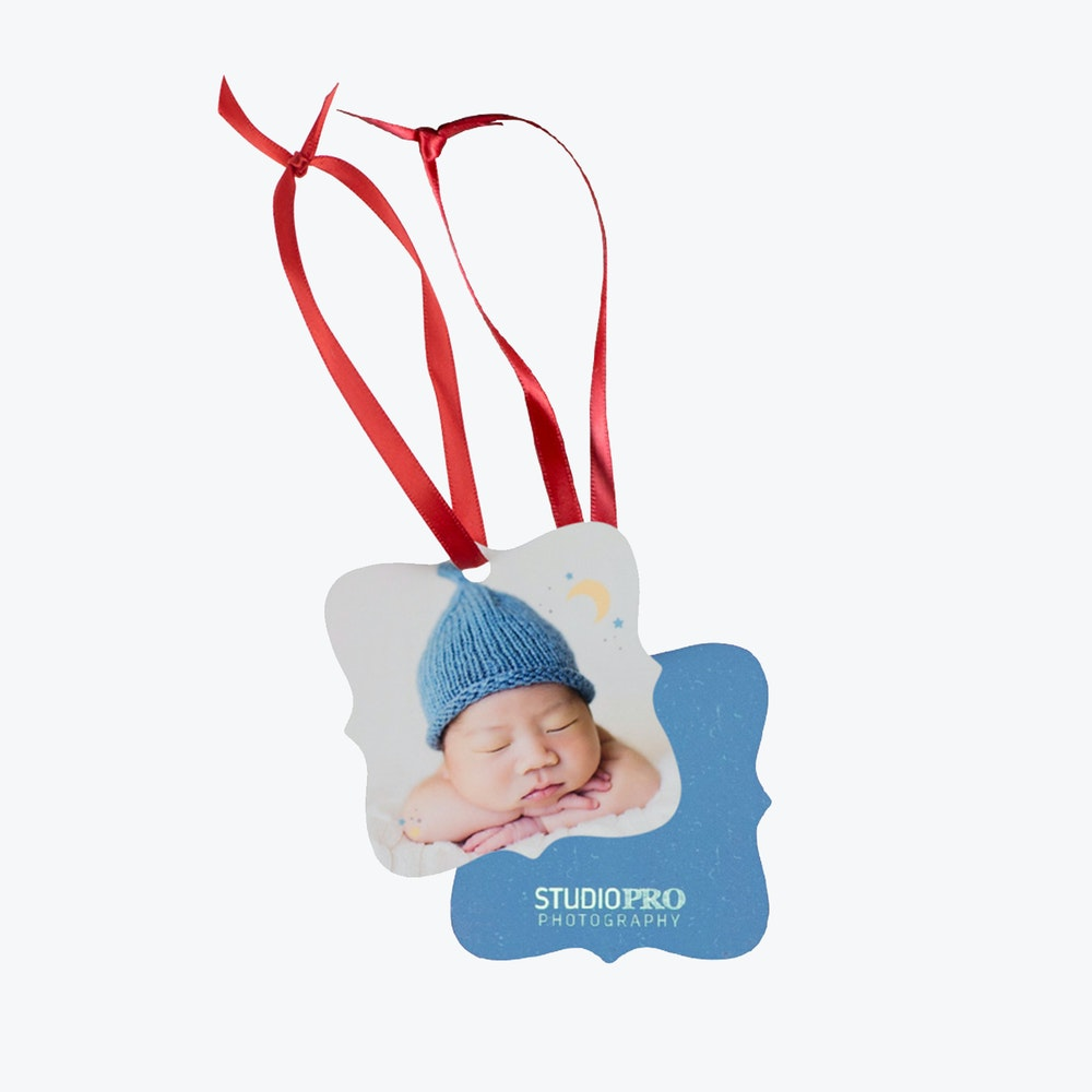 Metal Ornament baby design with ornate E12 shape