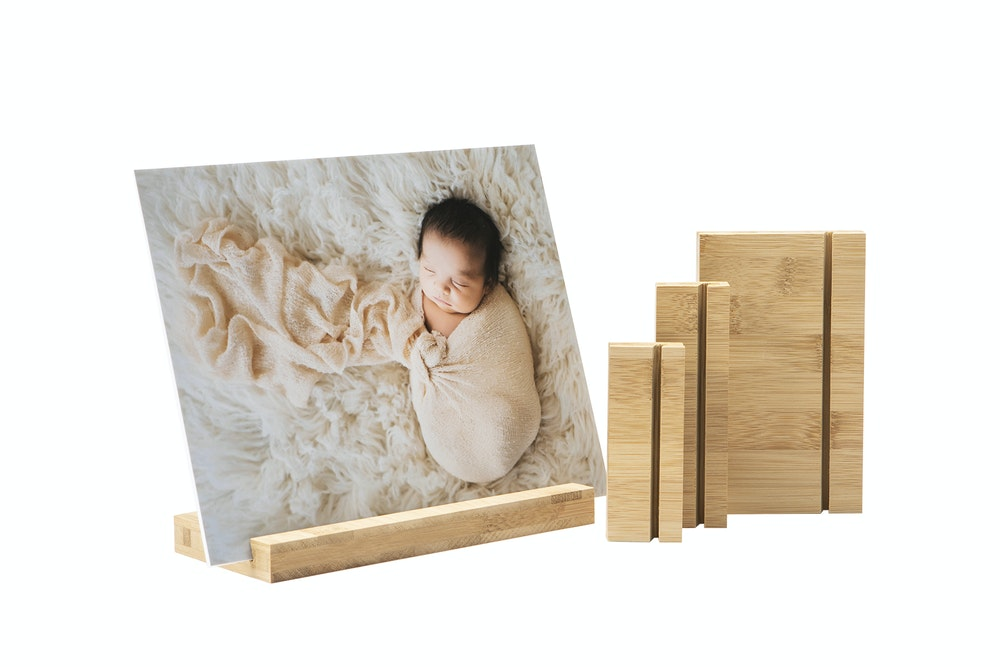 Bamboo Wood Display Stands in multiple sizes