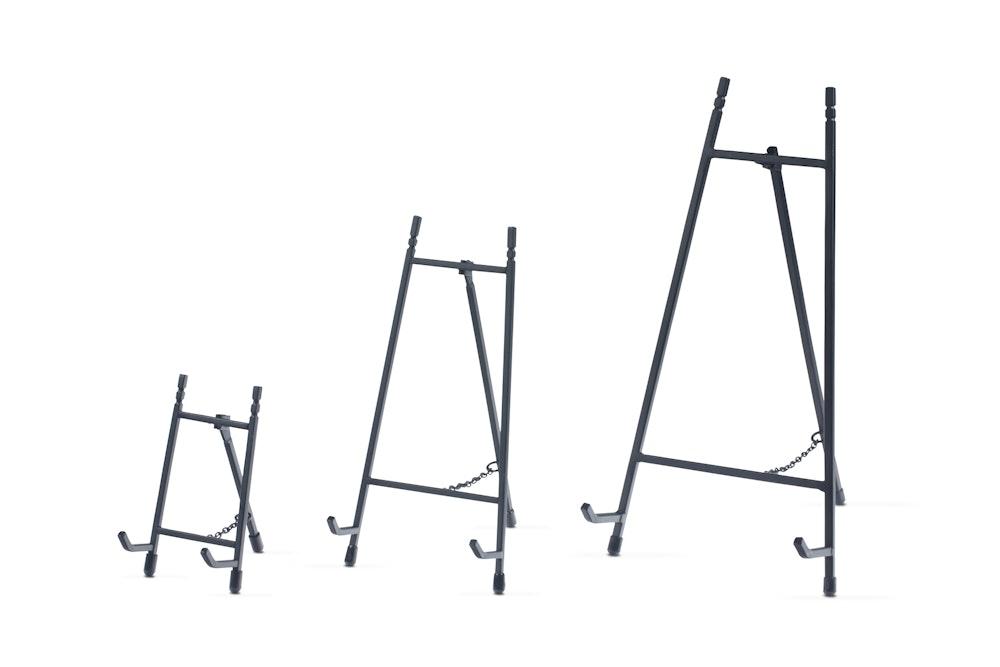 Black Metal Display Easels in multiple sizes