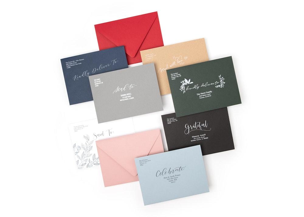 Premium Euro Flap Printed Envelope Colors