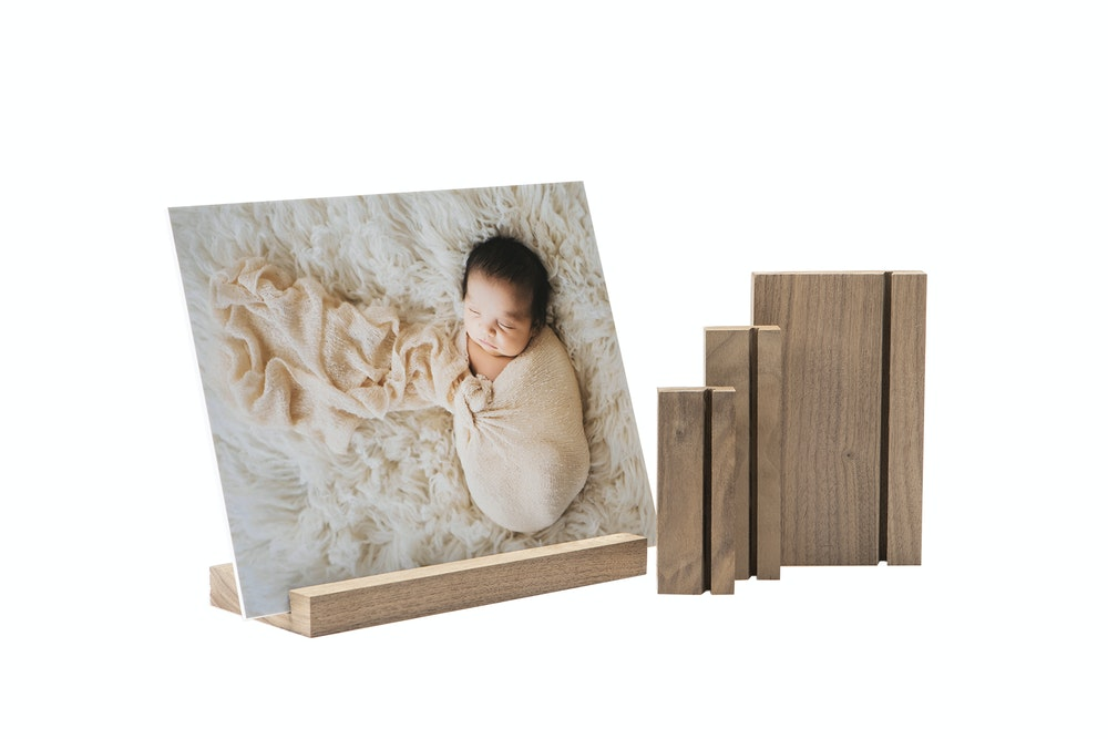 Walnut Wood Display Stands in multiple sizes