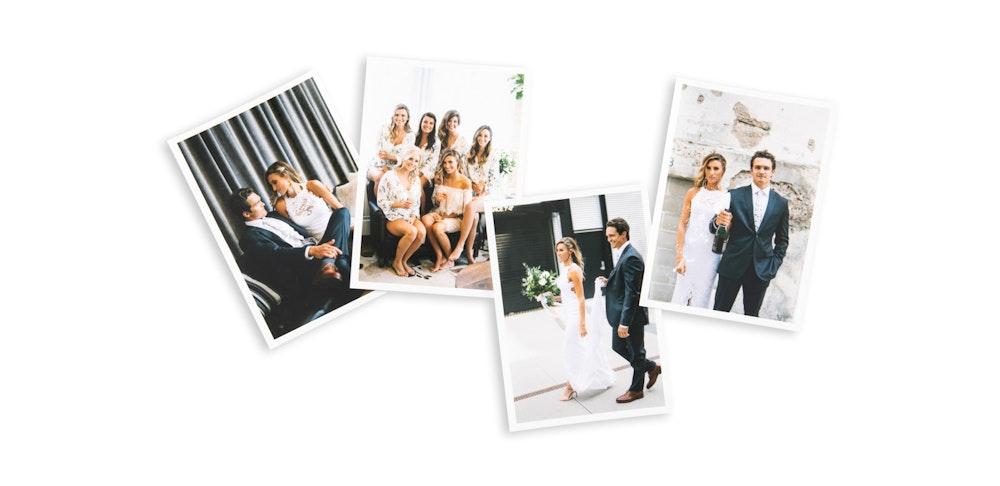 Multiple white border wedding Proofing Prints