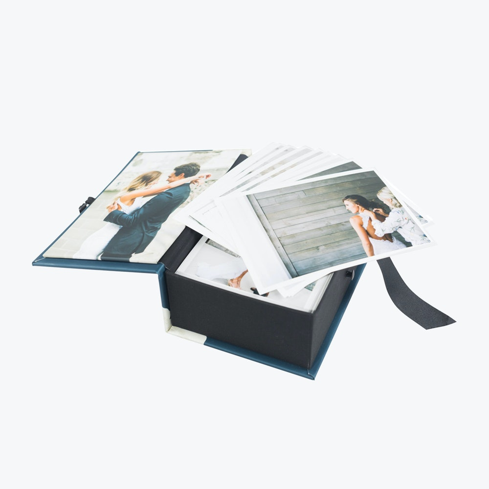 Open custom photo panel Image Box with Proof Prints