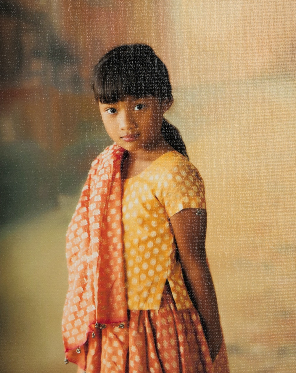 Giclée Portrait Canvas with Semi-Gloss Varnish Surface