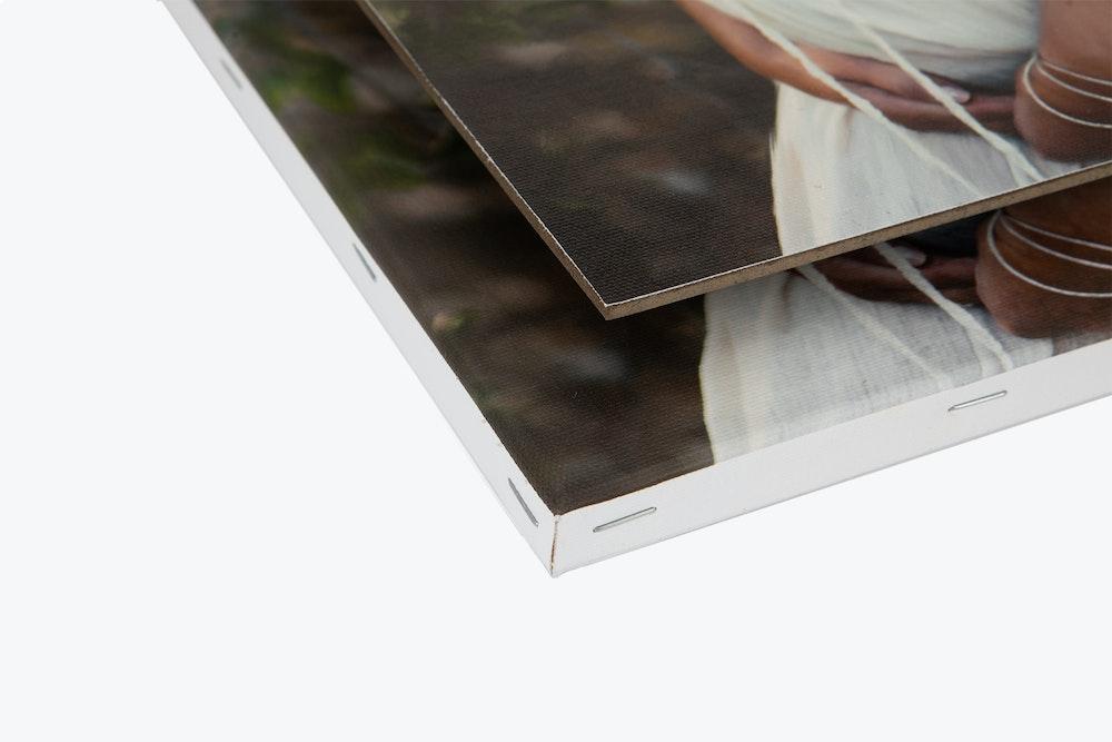 Portrait Canvas mounting options corner detail