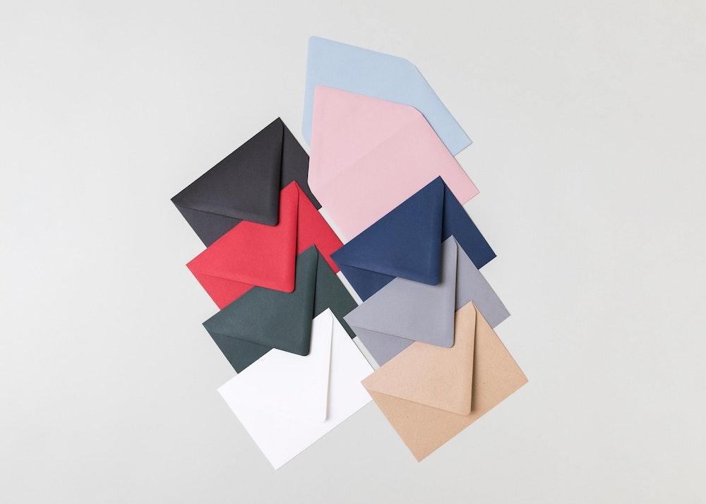 Premium Euro Flap Envelope Color Options