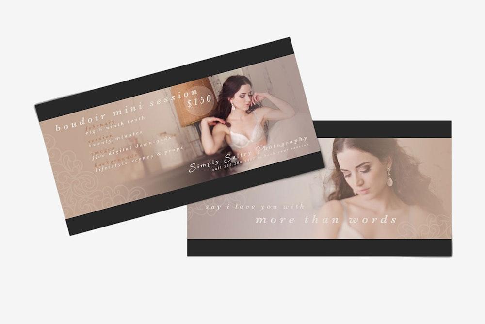 Promo Marketing Boudoir Card 5x10