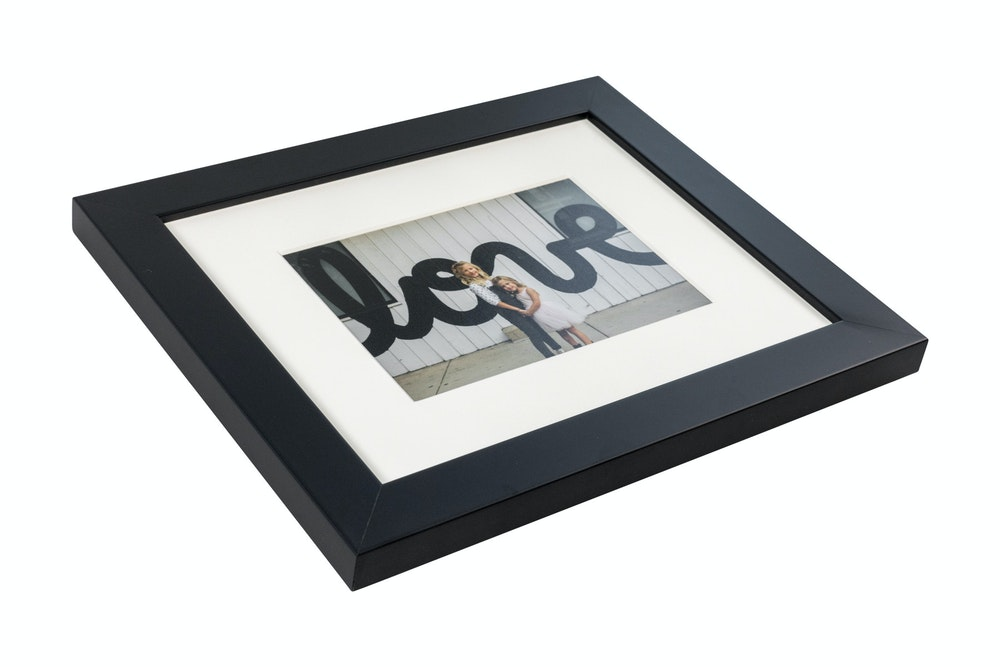 Single white mat black gallery Framed Print
