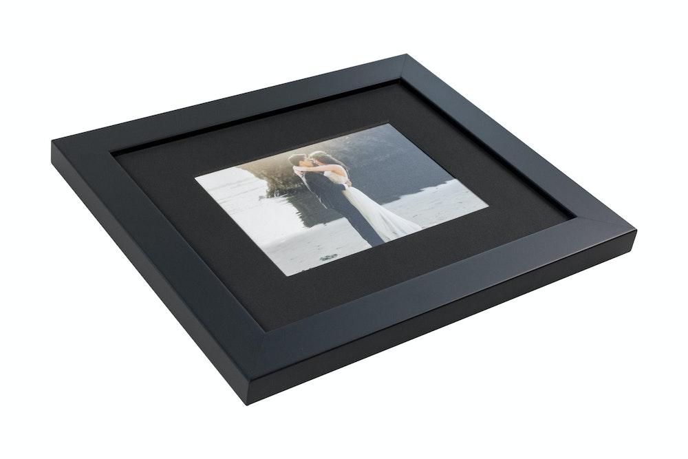 Single black mat in black gallery Framed Print