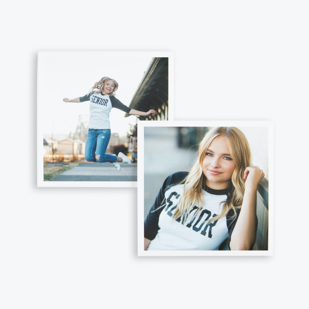Square Proof Prints with white borders