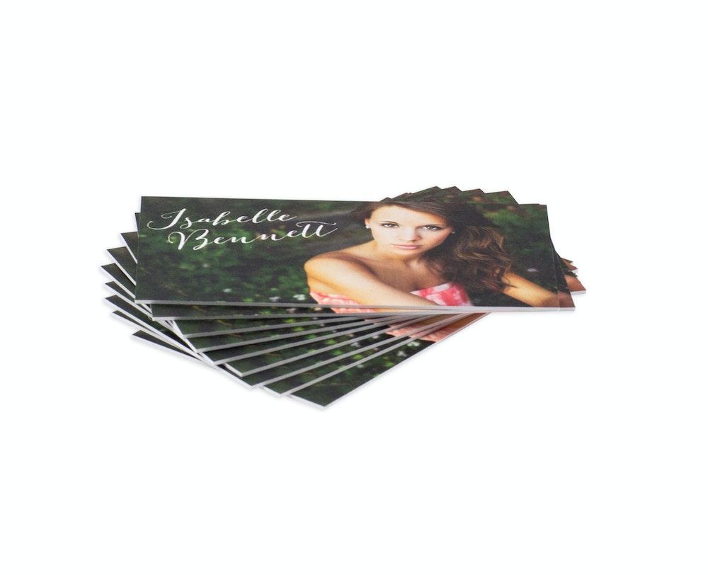 Thick Business Card as senior rep card