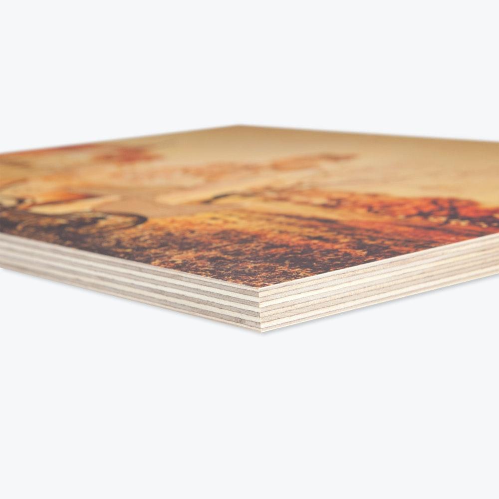 Wood print edge detail