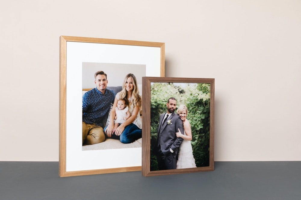 Woodland Natural and Walnut Framed Print on a clean background
